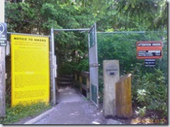 Grouse Grind entrance